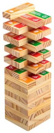 Настольная игра «Падающая башня с фантами», 48 брусков ЛАС ИГРАС