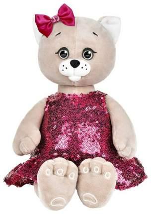 Мягкая игрушка животное Колбаскин&Мышель Мышель в красном платье с пайетками 20см