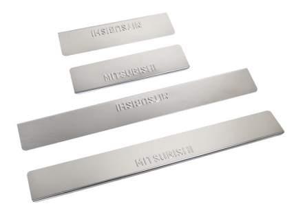 Накладки на пороги Mitsubishi ASX 2013-> Dollex NPS-023