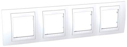 "Рамка ""Unica"", 4 места, цвет: белый, арт. MGU6.008.18"
