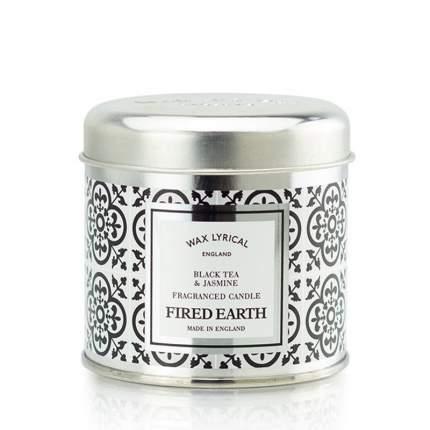 Свеча ароматическая в алюминиевой банке Черный чай и жасмин Wax Lyrical Английский стиль