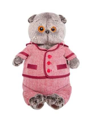 """Мягкая игрушка """"Басик"""" в красном пиджаке и брюках в ёлочку, 22 см Басик и Ко"""