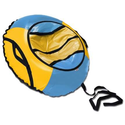 Тюбинг BELON FAMILIA СВ-003-Т1/НЕЗАБУДКА Спорт голубой-желтый 100см