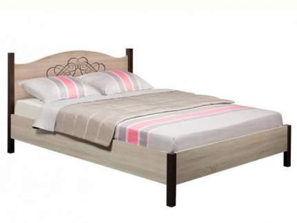 Двуспальная кровать Глазов ADELE 2 дуб сонома, орех шоколадный, 180х200 см