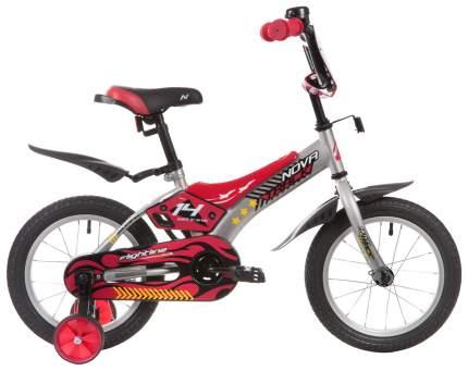 """Велосипед Novatrack 14"""" """"Flightline"""", серый, пластиковые короткие крылья"""