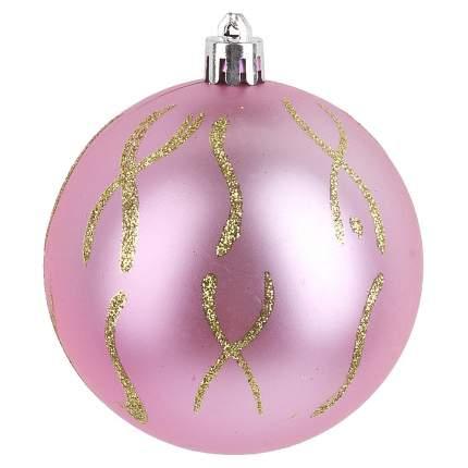Шар на ель Monte Christmas Знаки на розовом N6380567 8 см 1 шт.