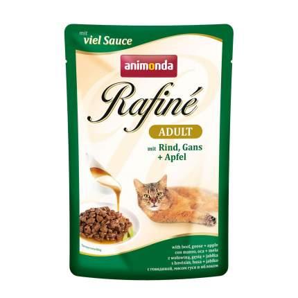 Влажный корм для кошек Animonda Rafine Soupe Adult, говядина, мясо гуся и яблоко, 100г