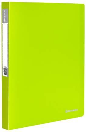 Папка на кольцах BRAUBERG Neon 227456 Неоновый зеленый A4