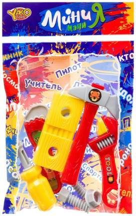 Набор строит. инструментов 10 предметов, серия МиниМаниЯ, PAC 15,5x23,5 см, арт.M7655.