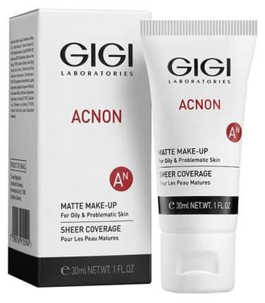 Крем-тон матирующий Gigi AN Matte makeup для проблемной и жирной кожи, 30 мл