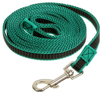 Поводок для собак Зооник с двойной латексной нитью зеленый 5 м 11440-1