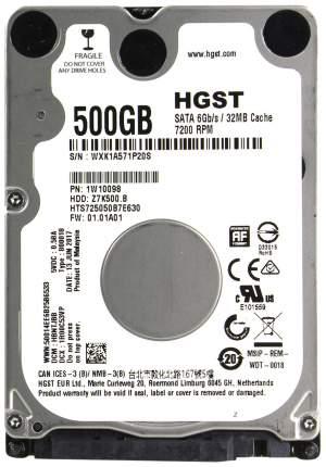 Внутренний жесткий диск HGST Travelstar Z7K500 500GB (HTS725050B7E630)