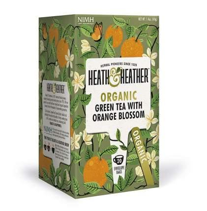 Чай зеленый Heath&Heather с цветками апельсина 20 пакетиков