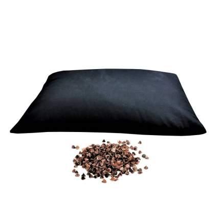 Подушка RamaYoga с наполнителем из гречишной лузги черный 70 x 50 см