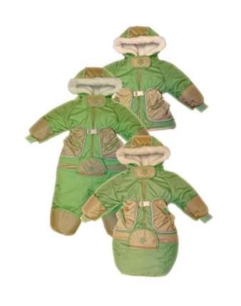 Комбинезон-трансформер Золотой гусь Зимушка Зеленый с меховой подкладкой