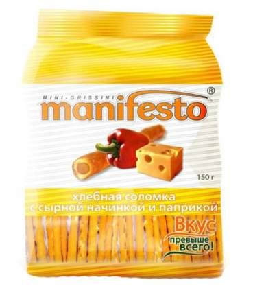 Соломка хлебная Manifesto с сырной начинкой и паприкой 150 г