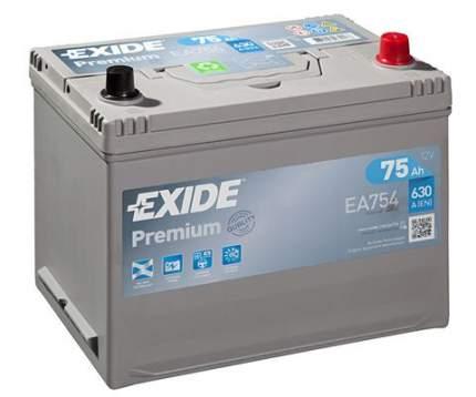 Аккумулятор автомобильный EXIDE EA754 75 Ач