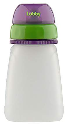 Бутылочка для кормления LUBBY силиконовая от 6 мес 120мл силикон