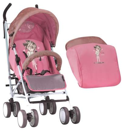 Коляска-трость Lorelli Fiesta Бежево-розовый, Biege&Pink Girl 1834