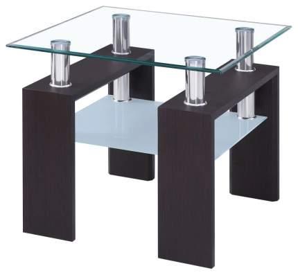 Журнальный столик Woodville CT-52 1299 110х60х45 см, хром/венге/белый/прозрачный