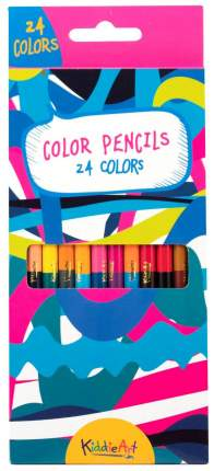 Цветные карандаши Кiddie Art двусторонние 24 цвета 12 шт.