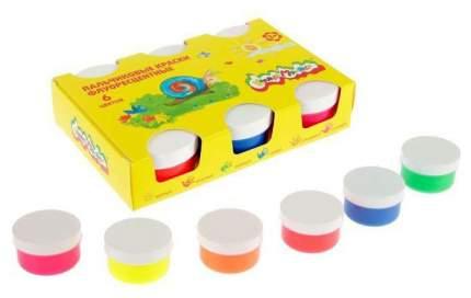 Пальчиковые флуоресцентные краски Каляка-Маляка 6 цветов