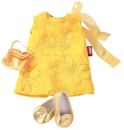 Набор одежды для кукол Gotz Платье, сумочка и туфельки желтый 45-50 см