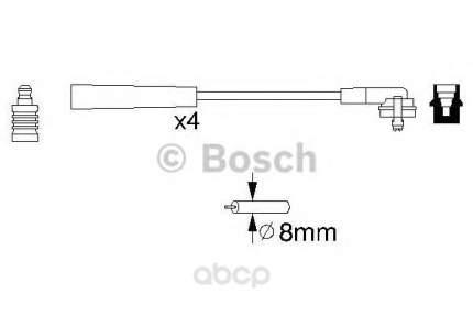 Комплект высоковольтных проводов Bosch 0986356700