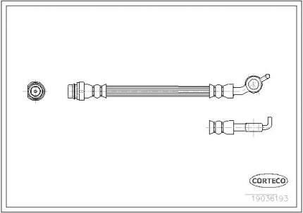 Шланг тормозной системы CORTECO 19036193