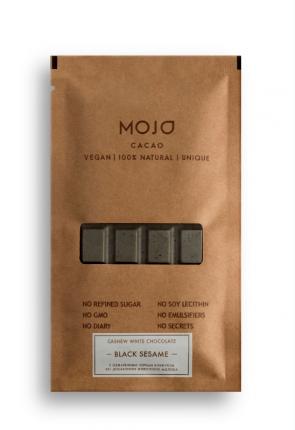 Белый шоколад Mojo Cacao с черным кунжутом black sesame