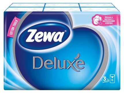 Платочки бумажные носовые Zewa Deluxe, 3 слоя, 10шт.Х 6