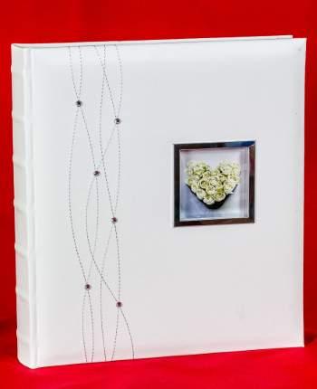 """Свадебный магнитный фотоальбом """"Стразы с окошком"""" на 60 страниц 28х31 см"""