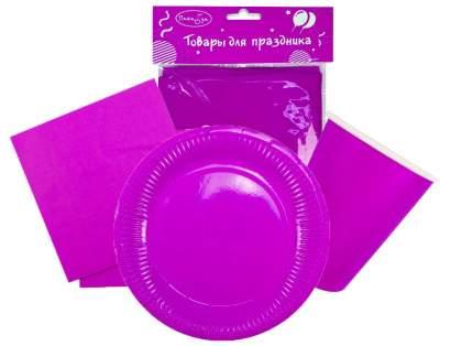 Набор одноразовой посуды  Патибум Purple