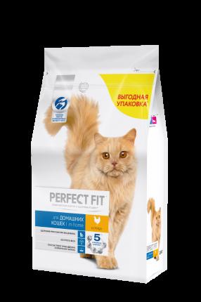 Сухой корм для кошек Perfect Fit In-home, для домашних, курица, 2,5кг