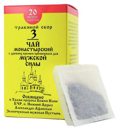 Чай Монастырский №3 Бизорюк Фабрика здоровья для мужской силы ф/п 20 шт.