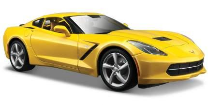 Машинка Maisto 1:18 Chevrolet Corvette Stingray 2014 года, желтая