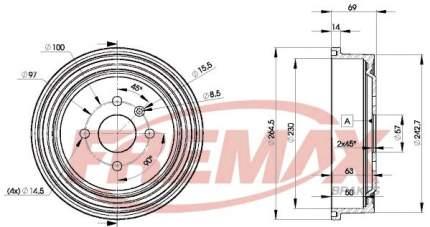 Тормозной барабан FREMAX BD-8063