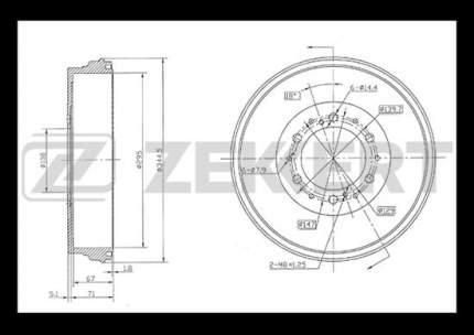 Тормозной барабан ZEKKERT BS-5850