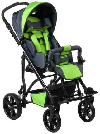 Кресло-коляска Meyra Junior для детей ДЦП зеленый-серый пневматические