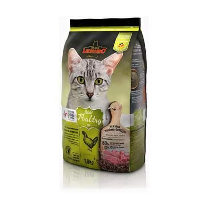 Сухой корм для кошек Leonardo Adult Poultry GF, беззерновой, домашняя птица, 1,8кг
