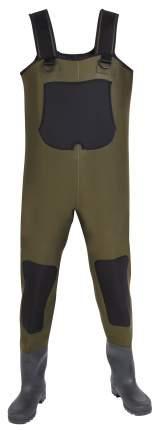 Вейдерсы Norfin Waders, зеленые/черные, One Size INT, 40 RU