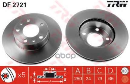 Тормозной диск TRW/Lucas для DF2721
