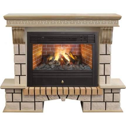 Закрытый электрокамин Real-Flame Stone new 26/HL WTG с очагом 3D Novara