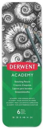 Набор чернографитных карандашей Academy Sketching, 6 штук