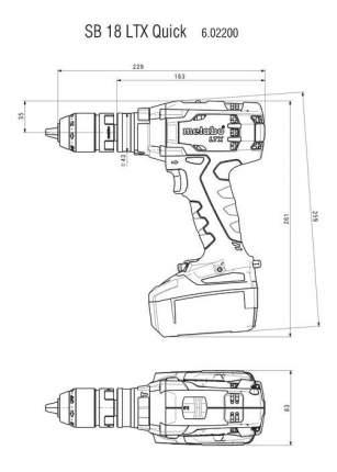 Аккумуляторная дрель-шуруповерт Metabo SB18LTXQuick 602200650