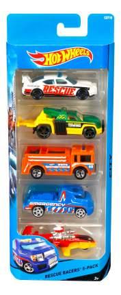 Набор пластиковых машинок Hot Wheels Rescue Racers 1806 CDT18