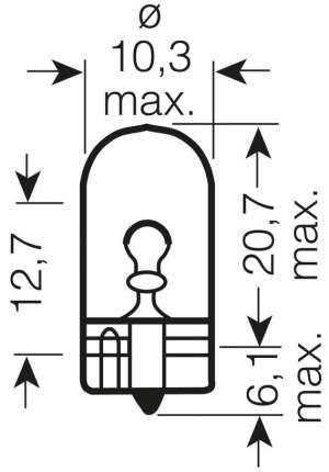 Лампа накаливания автомобильная OSRAM W5W 12V (2825ULT-02B)