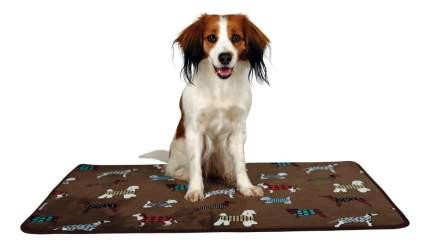 Коврик для собак TRIXIE FunDogs плюш, коричневый, 70x50 см