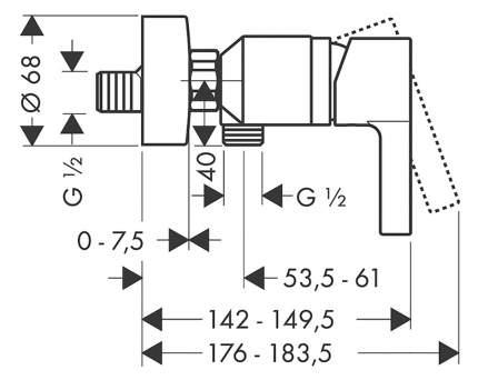Смеситель для душа HansGrohe Metris S 31660000 хром
