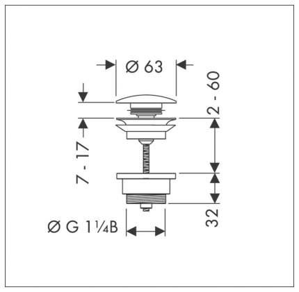 Кнопка клапана-автомата Hansgrohe 50100000
